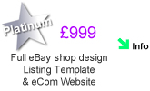 eBay shop design listing and website design